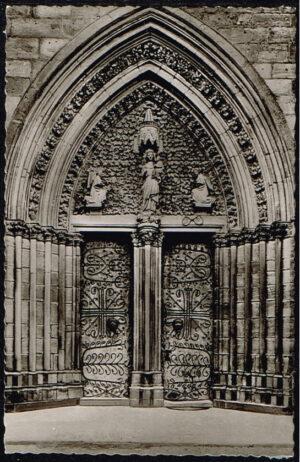 Ansichtkaart Duitsland Marburg an der Lahn Portal der Elisabethkirche