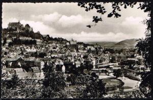 Ansichtkaart Duitsland Marburg an der Lahn vom Capplerberg aus gesehen