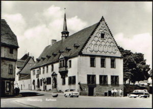 Ansichtkaart Duitsland Merseburg an de Saale Rathaus 474-01