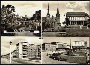 Ansichtkaart Duitsland Merseburg diverse opnames 11 063