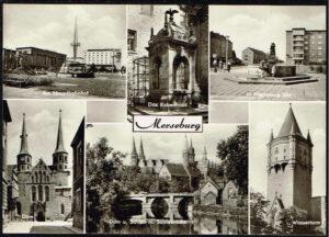 Ansichtkaart Duitsland Merseburg diverse opnames