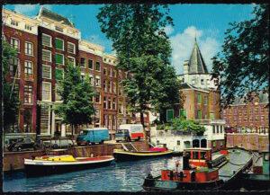 Ansichtkaart Nederland Amsterdam Geldersekade met Schreierstoren nr 19
