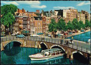 Ansichtkaart Nederland Amsterdam Reguliersgracht nr 14