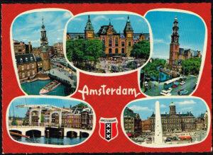 Ansichtkaart Nederland Amsterdam diverse afbeeldingen