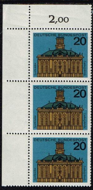 Duitsland (BRD) 1964 Hauptstädte der Bundesländer Michel nr 427 Briefmarkenausgabe BRD 1964 waarde 3x20 pf